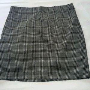 Dynamite Women's Plaid Pull-On Skirt